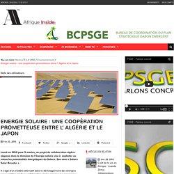 Energie solaire : une coopération prometteuse entre l' Algérie et le Japon