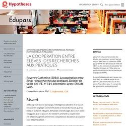 La coopération entre élèves : des recherches aux pratiques