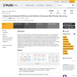 Cooperation between Referees and Authors Increases Peer Review Accuracy
