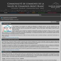 Coopération transfrontalière - Communauté de Communes de la Vallée de Chamonix Mont-Blanc