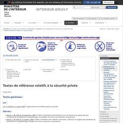 Textes de référence relatifs à la sécurité privée / La sécurité privée / Délégation aux coopérations de sécurité / Organisation / Le ministère