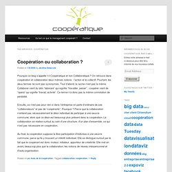 Coopération, management et technologies » coopération