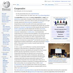 Cooperative - Wiki