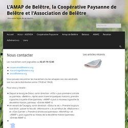 Nous contacter – L'AMAP de Belêtre, la Coopérative Paysanne de Belêtre et l'Association de Belêtre