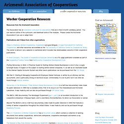 Worker Cooperative Resouces | Arizmendi Association of Cooperatives