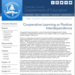 OCDE.us - Cooperative Learning or Positive Interdependence