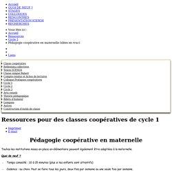 ICEM34 - Pédagogie coopérative en maternelle (idées en vrac)