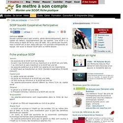 Formalités création SCOP Société Coopérative de Production