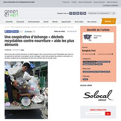 """Une coopérative d'échange """"déchets recyclables contre nourriture"""" aide les plus démunis"""