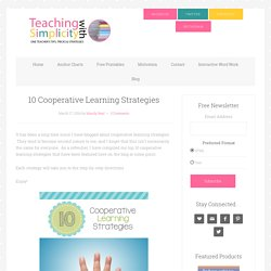 10 Cooperative Learning Strategies