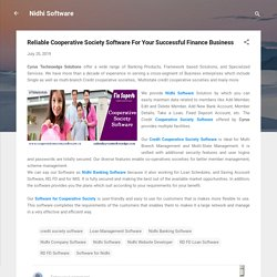 Reliable Cooperative Society Software For Your Successful Finance Business
