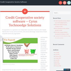 Finsuperb Cooperative society software – Cyrus Technoedge Solutions