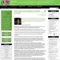 Kit de création d'une coopérative municipale - TransverSel