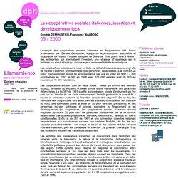 Les coopératives sociales italiennes, insertion et développement local