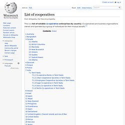 List of cooperatives - Wiki