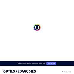 OUTILS PEDAGOGIES COOPERATIVES by reynaudcardie on Genially