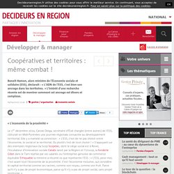 Coopératives et territoires : même combat !