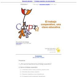 El trabajo cooperativo, una clave educativa (Versión reducida) - Concejo Educativo de CyL