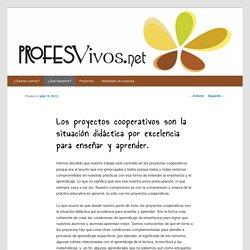 Los proyectos cooperativos son la situación didáctica por excelencia para enseñar y aprender.