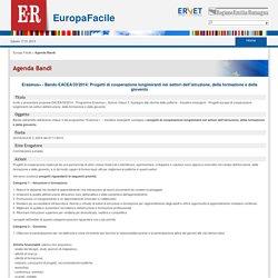 Erasmus+ - Bando EACEA/33/2014: Progetti di cooperazione lungimiranti nei settori dell'istruzione, della formazione e della gioventù