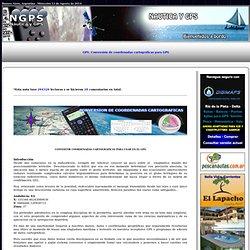 Conversión de coordenadas cartográficas para GPS