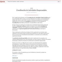 Coordinación de Actividades Empresariales - UCAE - Quora