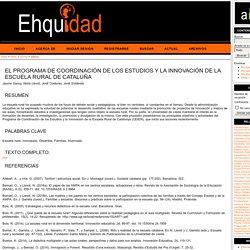 El Programa de Coordinación de los Estudios y la Innovación de la Escuela Rural de Cataluña