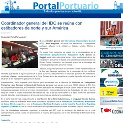 Coordinador general del IDC se reúne con estibadores de norte y sur América - Portal Portuario