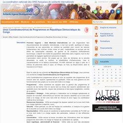 Un(e) Coordinateur(trice) de Programmes en République Démocratique du Congo