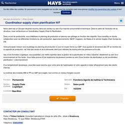 Coordinateur supply chain planification H/F - Hays - Recruiting Experts Worldwide