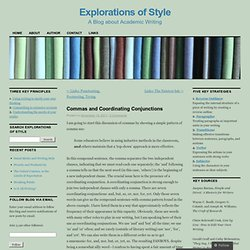 Commas and Coordinating Conjunctions | Explorations of Style
