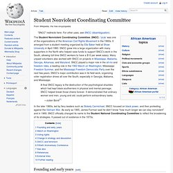 Student Nonviolent Coordinating Committee