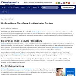 Kim Renee Dunbar Shares Research on Coordination Chemistry