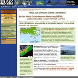 USGS Gulf of Mexico Science Coordination - Barrier Island Comprehensive Monitoring (BICM)