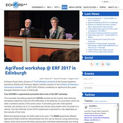 Agrifood workshop @ ERF 2017 in Edinburgh - The European Coordination Hub for Open Robotics Development