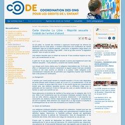 La CODE (La Coordination des ONG pour les Droits de l'Enfant)