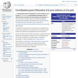 Coordination pour l'éducation à la non-violence et à la paix