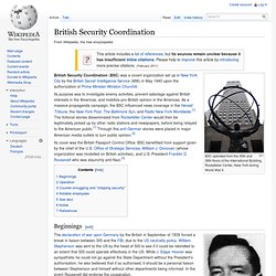 1940 British Security Coordination