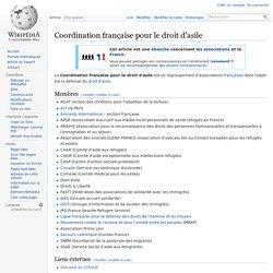 Coordination française pour le droit d'asile