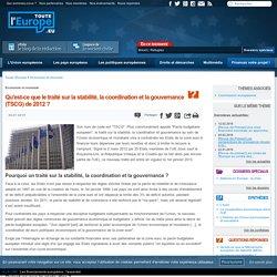 Qu'est-ce que le traité sur la stabilité, la coordination et la gouvernance (TSCG) de 2012 ?