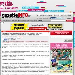 29/08 La coordination nationale des intermittents et précaires à Dijon, du 31 août au 2 septembre