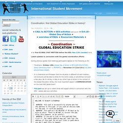Coordination: first Global Education Strike in history!