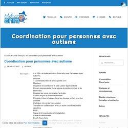 Coordination pour personnes avec autisme