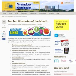 Top Ten Glossaries of the Month - Terminology Coordination UnitTerminology Coordination Unit