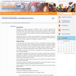 Coordination Sud - STOVEPLUS clean cooking