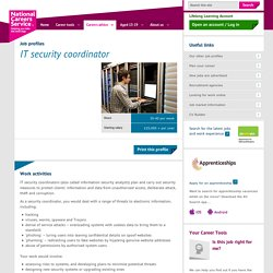 IT security coordinator Job Information