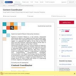 Praca Content Coordinator, Warszawa, mazowieckie - oferta pracy (4326460)