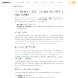Coordonnées GPS — Sciences Numériques et Technologie — Ressources — NumWorks
