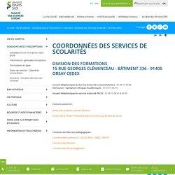 Coordonnées - Faculté des Sciences de l'Université Paris-Sud