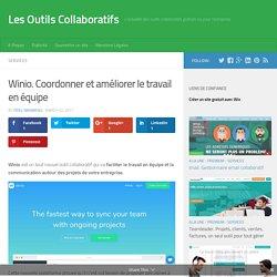 Winio. Coordonner et améliorer le travail en équipe - Les Outils Collaboratifs